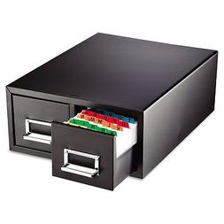 SteelMaster Drawer Card Cabinet Holds 3 000 4 x 6 cards 14 1
