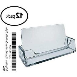 T'z Tagz Brand 12 Pack - Clear Plastic Business Card Holder
