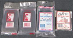 TRADING CARD HOLDERS! - 3 PLASTIC CASES + 100 SLEEVES - NEW