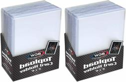 Trading Card Sleeves Hard Plastic Clear Case Holder 50 Baseb