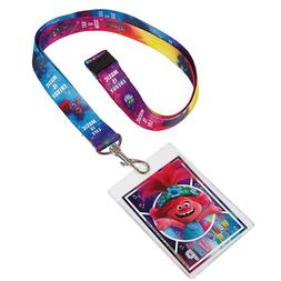 Trolls World Tour Lanyards with Card Holders 4ct - New!