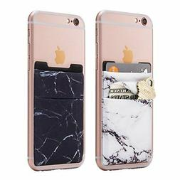 Stretchy Marble Cell Phone Stick On Wallet Card Holder Phon