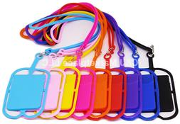 Universal Cell Phone Lanyard Credit Card Holder Silicone iPh