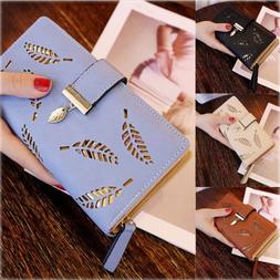 US Fashion Women Leather Clutch Lady Wallet Long PU Card Hol