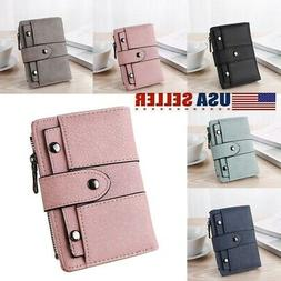 US Women Girl Short Wallet Leather Small Clutch Coin Purse C