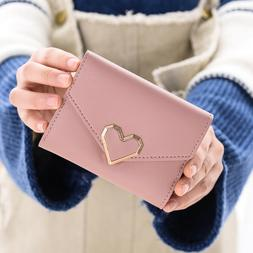 US Womens Leather Small Mini Wallet Ladies Card Holder Clutc