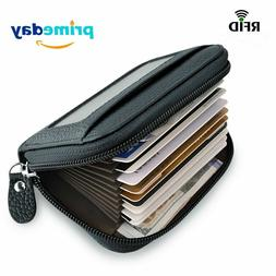 Wallet, Leather Credit Card Wallet for Women RFID Credit Car