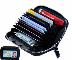 Wallets for Women Genuine Leather Credit Card Holder RFID,