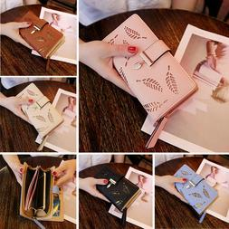 Women Clutch Leather Wallet Long Card Holder Phone Case Coin