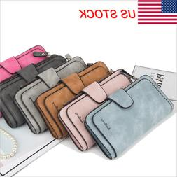 Women Clutch Leather Wallet Long Card Holder Phone Bag Case