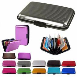 Women Men ID Credit Card Holder Wallet Aluminum Metal Pocket