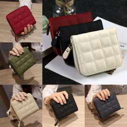 Women Mini Wallet Leather Zip Coin Purse Clutch Small Card H
