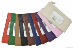 women s genuine leather id credit card