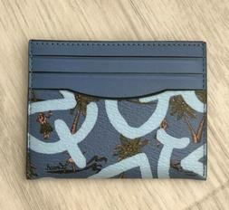 Coach Women's Keith Haring ID Card Case Holder Coated Canvas