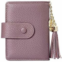 Women's Mini Credit Card Case Wallet With ID Window And Hold