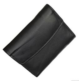 Women's Mini leather wallet ID and Credit Card Holder W/ Sna