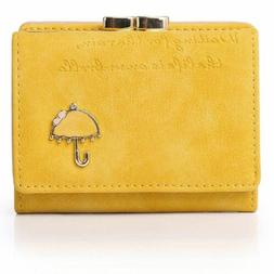 APHISON Women's Nubuck Leather Wallet Card Holder Cute Small