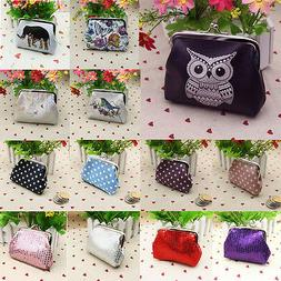 Women's Printing Sequin Dot Leather Wallet Card Holder Coin