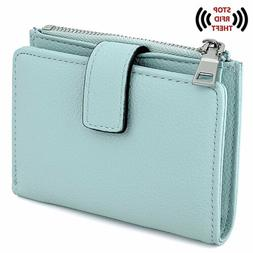 UTO Women's RFID Blocking PU Leather Wallet Card Holder Orga