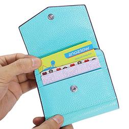 AINIMOER Women's RFID Blocking Small Compact Bifold Leather