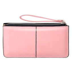 Women's Wristlet Clutches Leather Wallet Purse Cards Holder-
