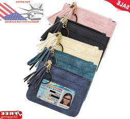 Small Women Zipper Purse RFID Wallet Fashion Lady Solid Coin