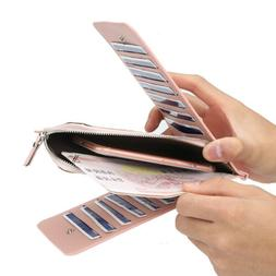 womens leather credit card holder wallet rfid