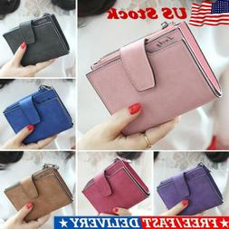 Womens Leather Small Mini Wallet Card Holder Zip Coin Purse