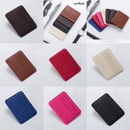 Womens Mens Leather Slim ID Credit Card Holder Case Purse Pa