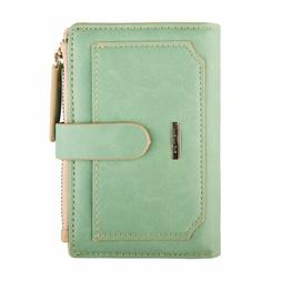 Indressme Womens Wallet Candy Color Bifold Mini Vintage Card