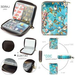 Aphison Womens Wallet Rfid Credit Card Holder Travel Leather