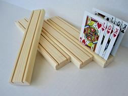 Wooden Playing Card Holder  Rack / Set of four
