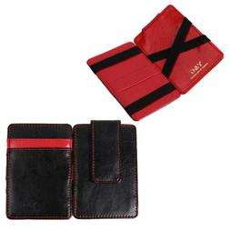Y&G YCM010301 Black Red Leather Magic Wallet with Card Holde