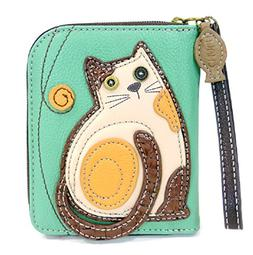 CHALA Zip Around Wallet, Wristlet, 8 Credit Card Slots, Stur