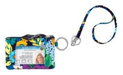 Vera Bradley Zip Id Case and Lanyard in Midnight Blues